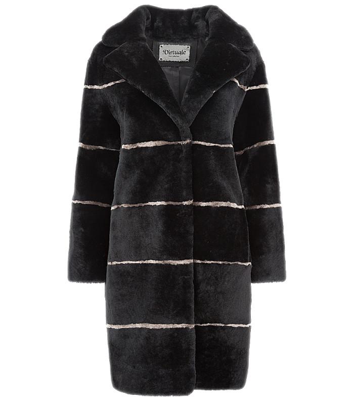 Пальто из овчины, утепленное синтепоном