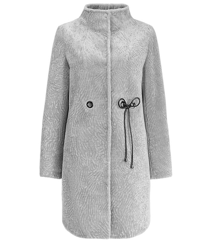 Пальто из вязаной овчины на синтепоне
