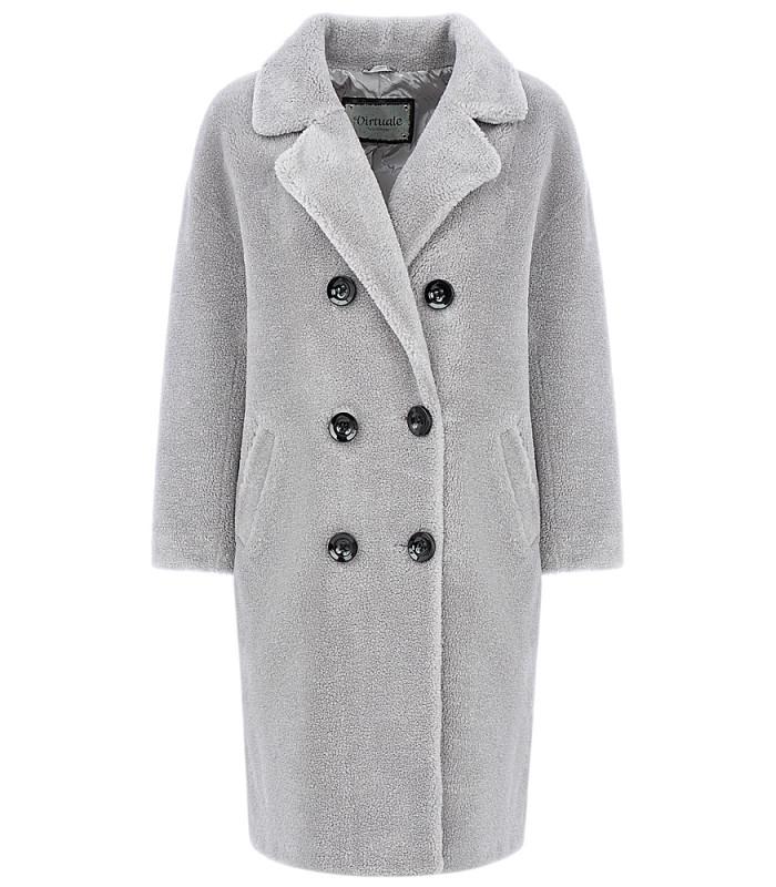 Пальто из вязаной овчины