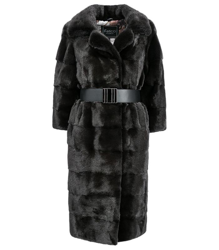 Пальто из аукционного меха норки KOPENHAGEN FUR