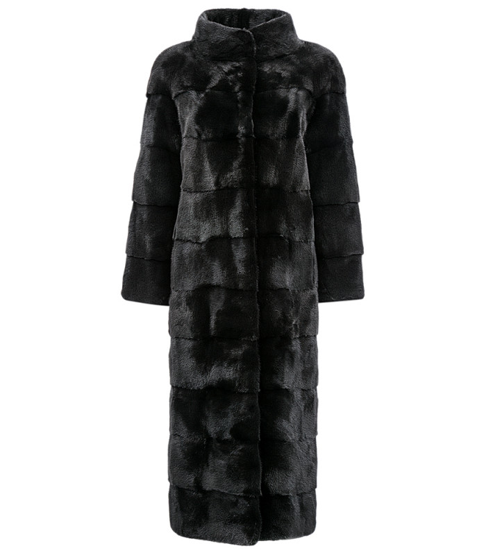 Длинное пальто из аукционного меха норки BLACKGLAMA