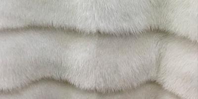 Шуба белого цвета