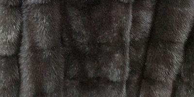 Шуба цвета Уголь